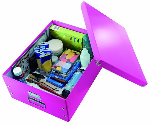 архивный короб а3 картон, белый leitz click n store