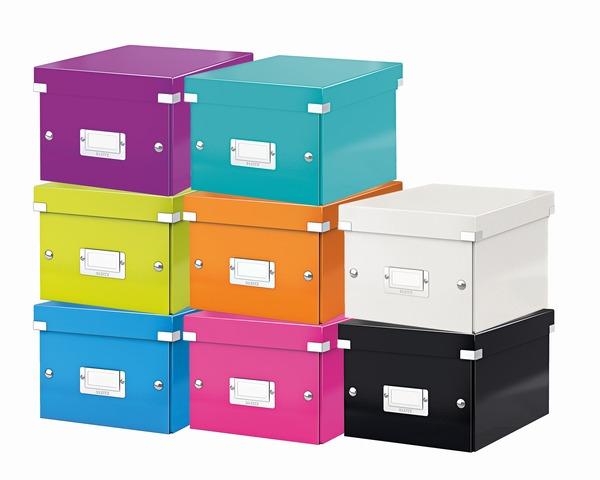 архивный короб, а5, картон, белый leitz click n store