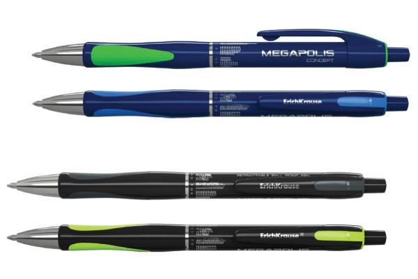 Ручка шариковая Мегаполис синяя
